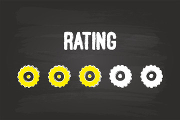 Rating Evaluation System With Three Gears On Blackboard