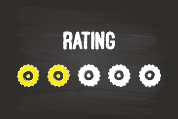 Rating Evaluation System With Two Gears On Blackboard