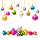 Fototapety Christmas baubles
