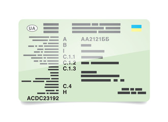 Certificate of registration of the vehicle Ukraine