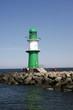canvas print picture - Leuchtturm an der Ostseeküste