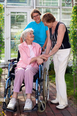Care Takers for Elderly Outdoor Capture.