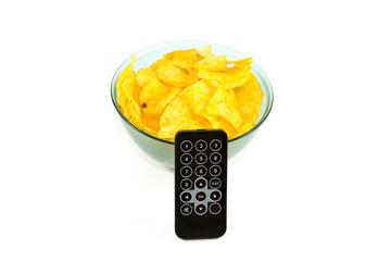 Frische Kartoffelchips mit Fernbedienung
