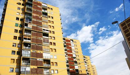 Edificios del barrio de La Verneda en Barcelona