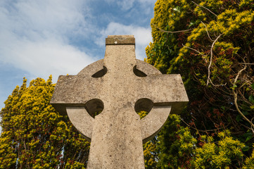 celtic cross cemetery background