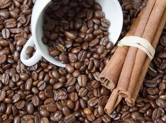 café et battons de cannelle