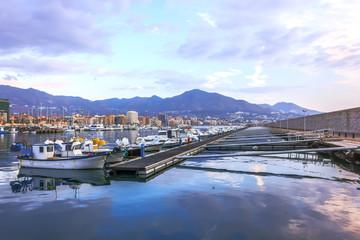Port in Fuengirola, Spain