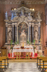 Padua - main baroque altar of church San Benedetto vecchio