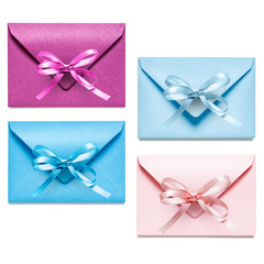 Envelopes with bow