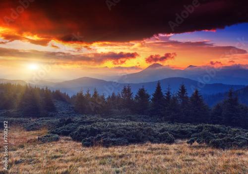Poster Oceanië mountain