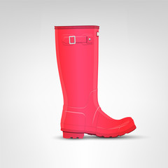 Pink rubber boot illustration