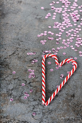 Christmas decorations - sequins and candy canes