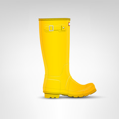 Yellow rubber boot illustration