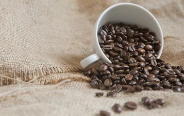 café et toile de lin