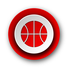 ball red modern web icon on white background