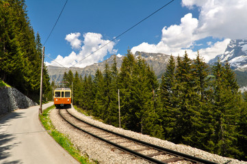 Famous Jungfrau Bahn with Beautiful Mountain View