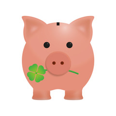 Lucky pig, coin bank