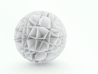 Abstract sphere 3D architectural design