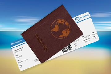 Passport and boarding pass.