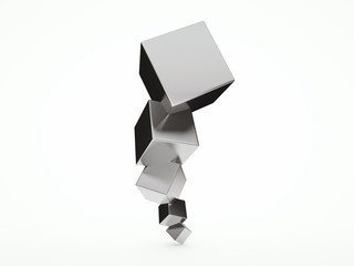 Abstract architectural 3D design with cubes