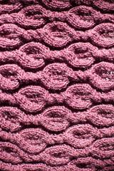 beautiful handmade purple wool knitted fabric
