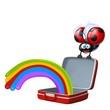 coccinella valigia arcobaleno