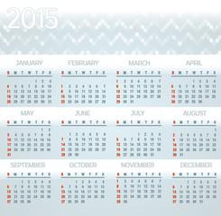 Modern Colors Calendar
