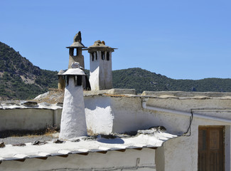 Traditional Moorish chimneys in the Alpajarras