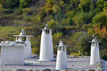 Traditional Moorish chimneys in the Alpajarras