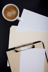 Paper on the office table