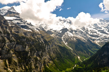 Swiss Alps Landscape in Jungfrau Region