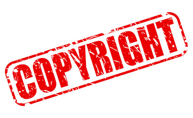 Copyright red stamp text