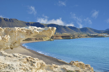 Los Escullos beach, one of the volcanic beauties of Cabo de Gata