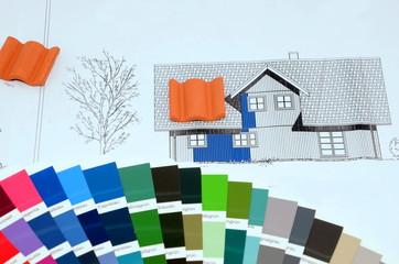Farbe Dachziegel Haus