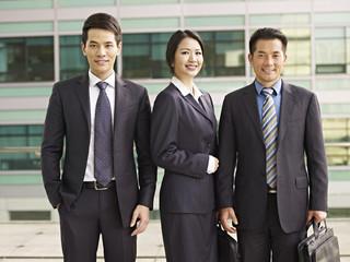 portrait asian business people