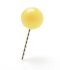 Pin con cabeza en forma de bola, amarillo