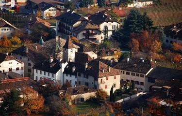San Michele di Appiano-Scorcio dall'alto sui tetti