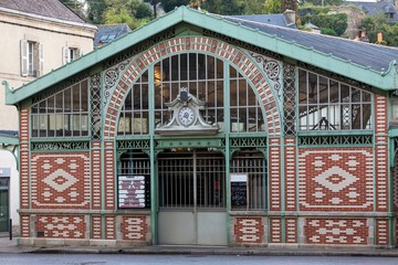 Traditional French covered market