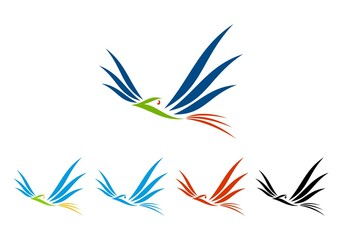 icon bird business logo