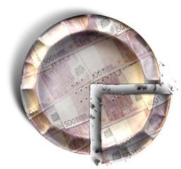 Slice Of Euro Money Pie