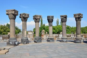 Руины древнего храма Звартноц, Армения