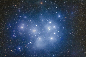 M45, The Pleiades cluster