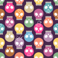 Pastel colored skull background