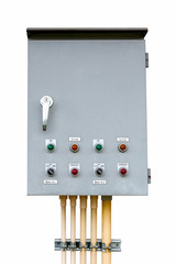 control box on isolated white with clipping path.
