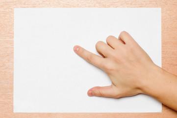 Pointing gesture