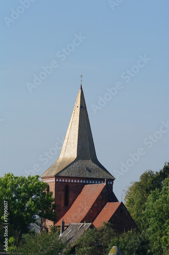 canvas print picture Kirche in Berkenthin 4