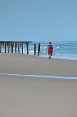 randonnée sur la plage