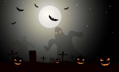 Horror Halloween Background-Vector