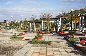 Park in Igoumenitsa. Greece