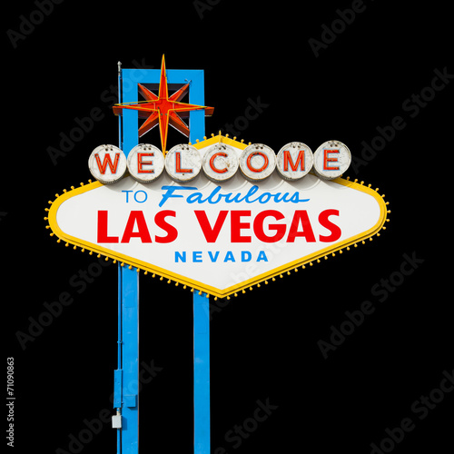 Keuken foto achterwand Las Vegas Welcome to Las Vegas Sign